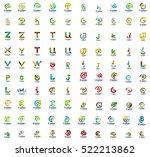 mega collection of 100 letter... | Shutterstock .eps vector #522213862