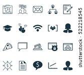 set of 20 universal editable... | Shutterstock .eps vector #522218545