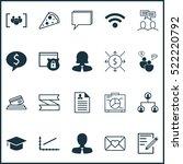 set of 20 universal editable... | Shutterstock .eps vector #522220792
