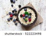 oatmeal porridge with ripe... | Shutterstock . vector #522223498