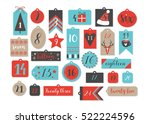 abstract printable tags... | Shutterstock .eps vector #522224596