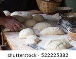 Bread Preparing For Baking In...