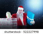 portrait of santa claus placing ... | Shutterstock . vector #522227998