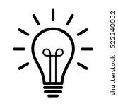 vintage light bulb   lightbulb... | Shutterstock .eps vector #522240052