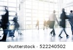 blurred people walking at a... | Shutterstock . vector #522240502