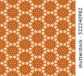 snowflakes on a brown seamless... | Shutterstock . vector #522240982