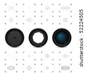 lenses and viewfinders | Shutterstock .eps vector #52224505