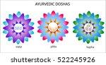 ayurvedic doshas icons. vata ... | Shutterstock .eps vector #522245926