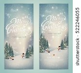 vintage merry christmas and... | Shutterstock .eps vector #522246055