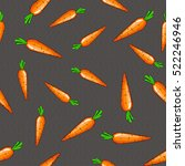 seamless background of carrots... | Shutterstock .eps vector #522246946