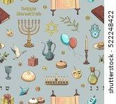 vector seamless color pattern... | Shutterstock .eps vector #522248422