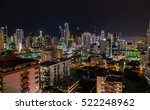 view of panama city at night. | Shutterstock . vector #522248962