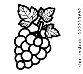 isolated grapes fruit design   Shutterstock .eps vector #522251692