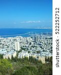 Panorama View Of Haifa City An...