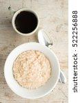 a white bowl of porridge oats... | Shutterstock . vector #522256888