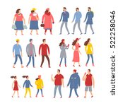 set of cartoon people in... | Shutterstock .eps vector #522258046