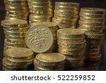 British Pound Coins Neat Stack...