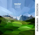 mountains background in glacier ... | Shutterstock .eps vector #522261316
