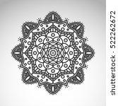 vector abstract flower mandala. ... | Shutterstock .eps vector #522262672