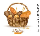 bakery shop display traditional ... | Shutterstock .eps vector #522264985