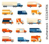 colorful delivery trucks of... | Shutterstock .eps vector #522265906
