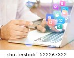 e commerce. | Shutterstock . vector #522267322