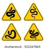 warning signs of attention... | Shutterstock .eps vector #522267865