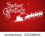 illustration of santa on sleigh ... | Shutterstock .eps vector #522268042