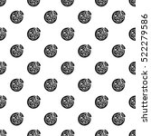 italian pizza pattern. simple... | Shutterstock . vector #522279586