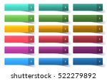 colorful set of web buttons ... | Shutterstock .eps vector #522279892