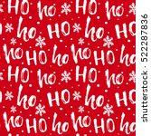 hohoho pattern  santa claus... | Shutterstock .eps vector #522287836