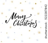 merry christmas text. black... | Shutterstock .eps vector #522287842
