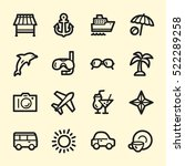 travel web icons.  vacation and ... | Shutterstock .eps vector #522289258