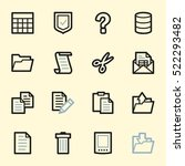 document web icons set   Shutterstock .eps vector #522293482