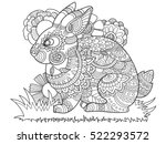 rabbit bunny coloring book for... | Shutterstock .eps vector #522293572