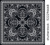 black and white decorative... | Shutterstock .eps vector #522296668
