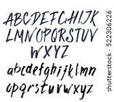 hand drawn brush font.... | Shutterstock .eps vector #522306226