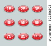 sale from 15 to 85  off  labels ... | Shutterstock .eps vector #522306925