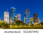 view on downtown houston by... | Shutterstock . vector #522307492