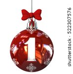 Red Christmas Ball Font Concep...