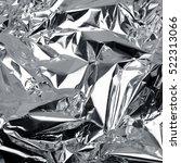 crumpled aluminum foil... | Shutterstock . vector #522313066