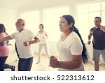 diversity people exercise class ... | Shutterstock . vector #522313612
