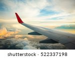 morning sunrise with wing of an ... | Shutterstock . vector #522337198