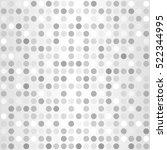 polka dot pattern. vector... | Shutterstock .eps vector #522344995