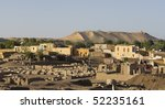 Historic village and temple ruins on Elefantine island in Egypt - stock photo