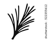 rosemary icon in black style... | Shutterstock . vector #522355612