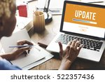 upgrade update software latest... | Shutterstock . vector #522357436