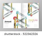 molecule annual report. vector...   Shutterstock .eps vector #522362326