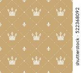 seamless pattern in retro style ... | Shutterstock .eps vector #522368092
