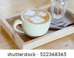 a cup of coffee with heart... | Shutterstock . vector #522368365